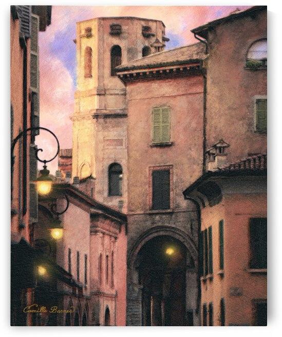 Italy villa street scene  by Camille Barnes