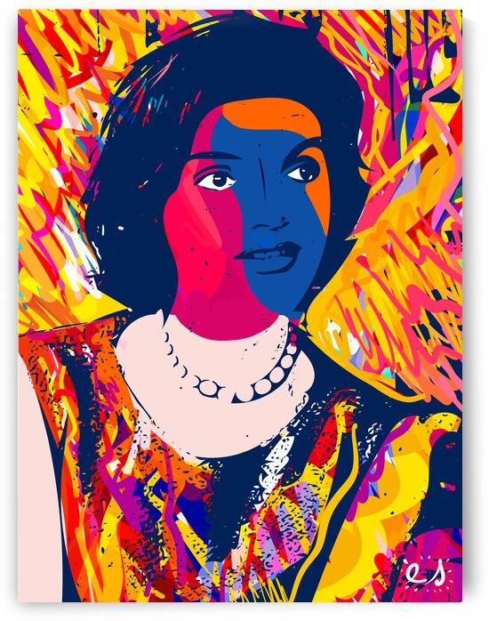 Jackie Kennedy Pop Art Graffiti by Emmanuel Signorino by Signorino