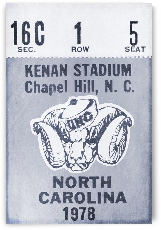 1978 North Carolina Football Ticket Stub Art Remix by Row One Brand