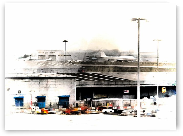 Activity at Stansted Airport by Dorothy Berry-Lound