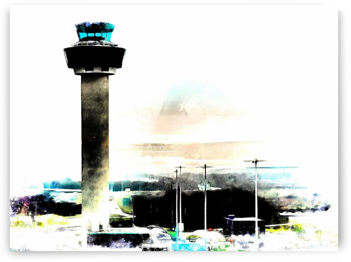 Control Tower Stansted Airport by Dorothy Berry-Lound