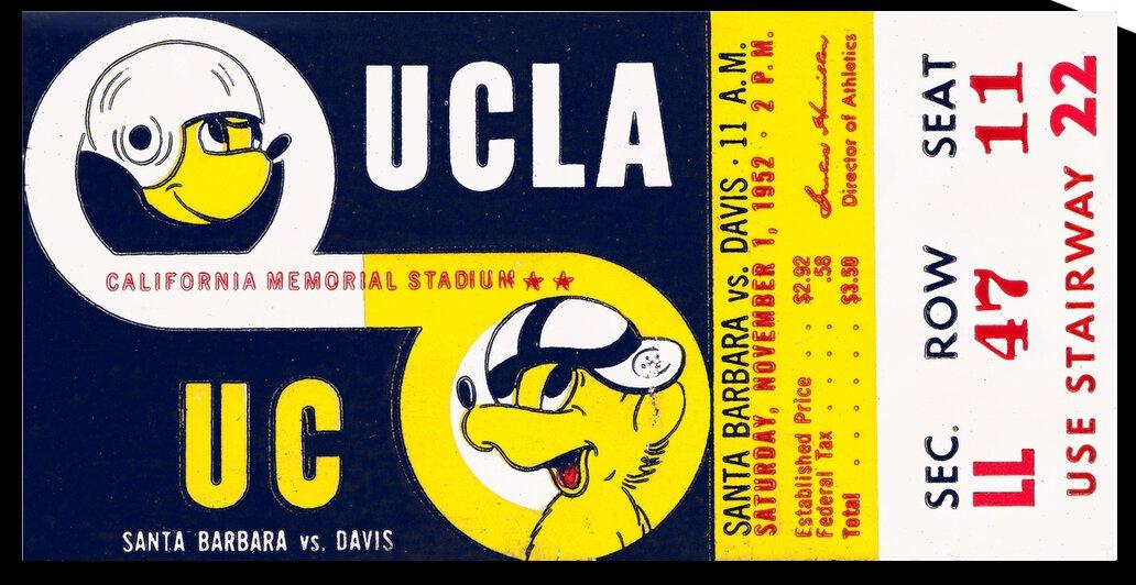 1952 UCLA Bruins vs. California Bears by Row One Brand