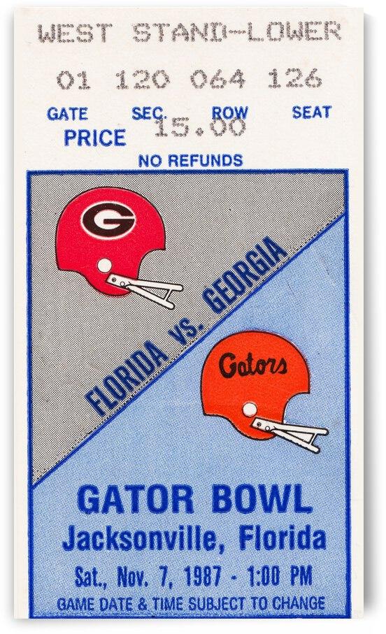 1987 Florida vs. Georgia Football Ticket Canvas by Row One Brand