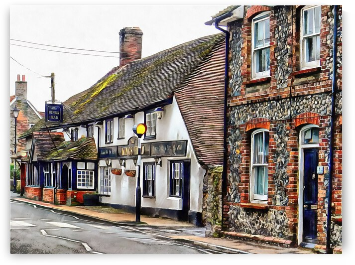 View to the Kings Head Upper Beeding by Dorothy Berry-Lound