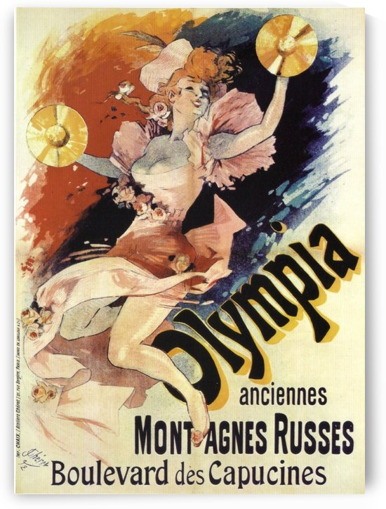 Jules Cheret, Olympia original vintage poster by VINTAGE POSTER