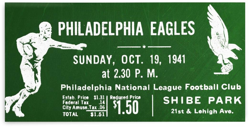 1941 Philadelphia Eagles Football Ticket Remix by Row One Brand