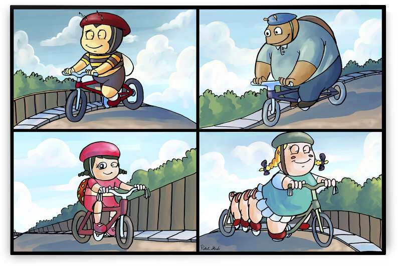 Time for a Bike Ride   Best Friends   4 panel Favorites for Kids Room and Nursery   Bugville Critters by Robert Stanek