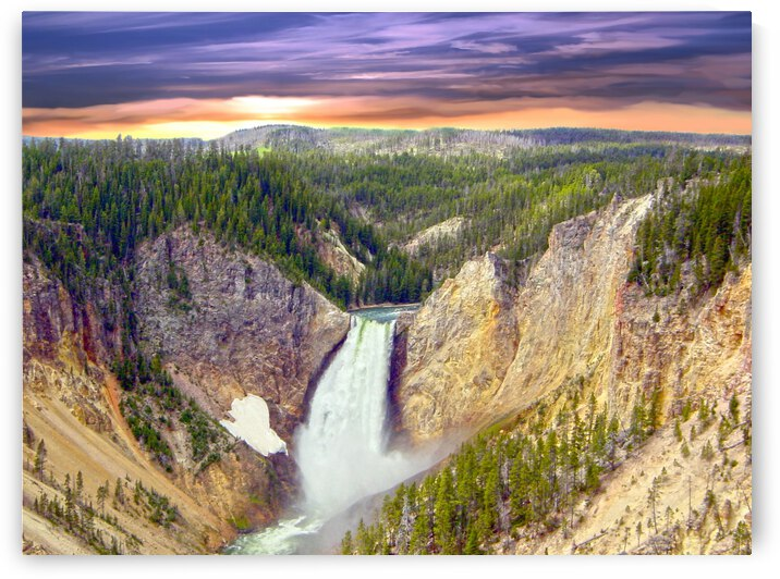 Grand Canyon of Yellowstone - The Falls in the Waning Light of Day - Yellowstone National Park at Sunset by 1North