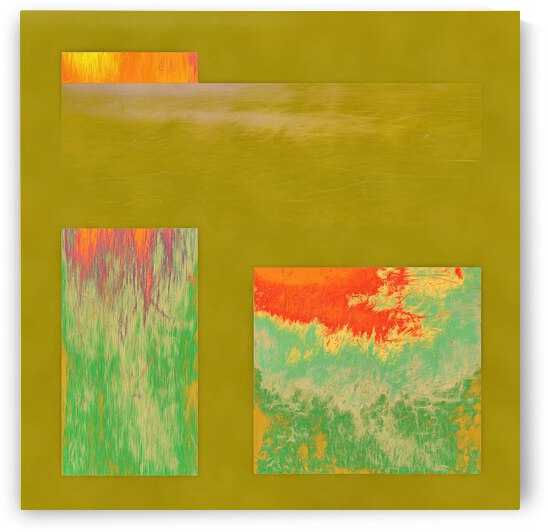 A Woodland Sunset Abstract by Dorothy Berry-Lound