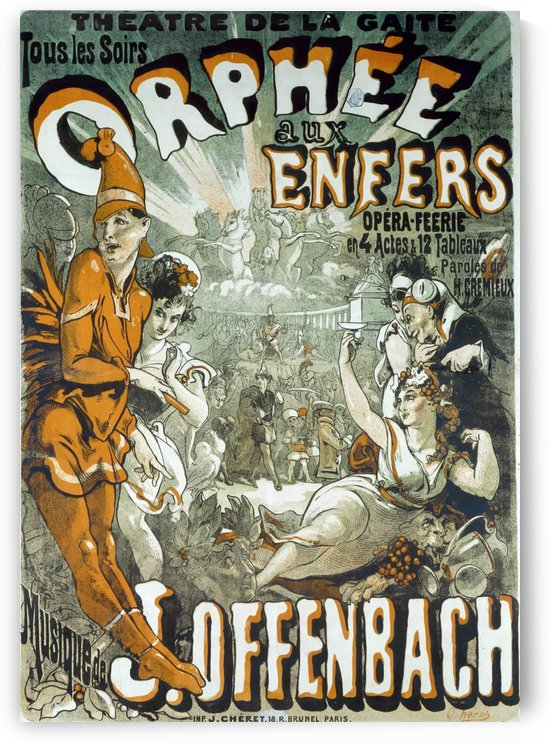 Orphee aux Enfers poster by VINTAGE POSTER