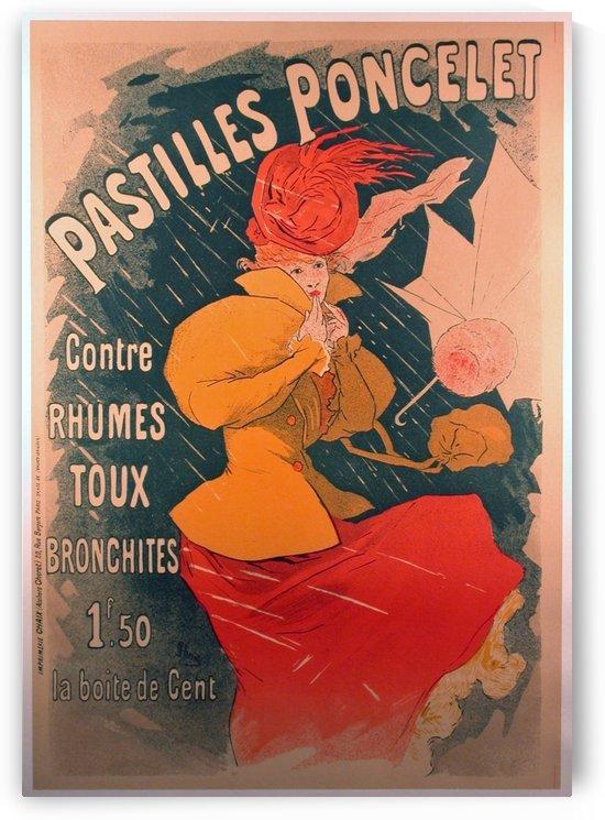 Original 1896 Lithograph Poster Pastilles Poncelet by VINTAGE POSTER