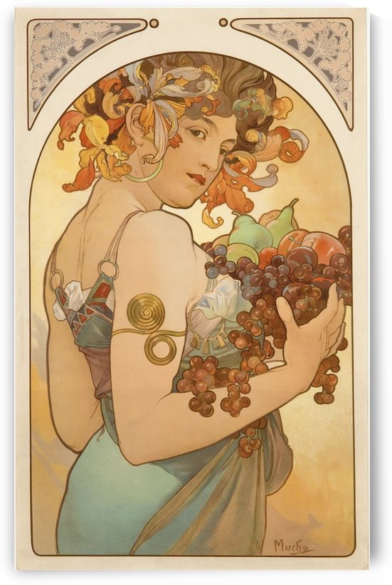 Fruit by Alphonse Mucha by VINTAGE POSTER