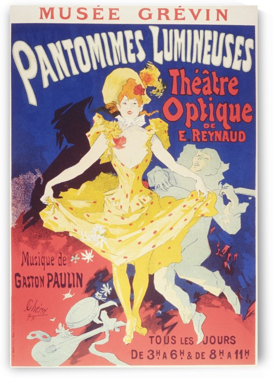 Pantomimes Lumineuses French poster, 1892 by VINTAGE POSTER