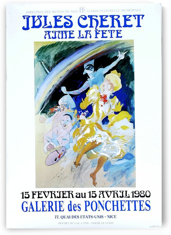 Galerie des Ponchettes poster by VINTAGE POSTER