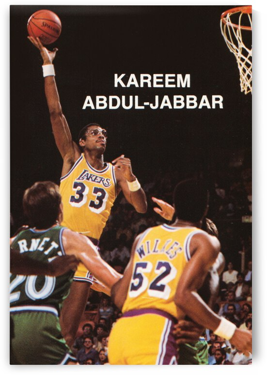 1984 Kareem Abdul Jabbar Poster Row 1 by Row One Brand