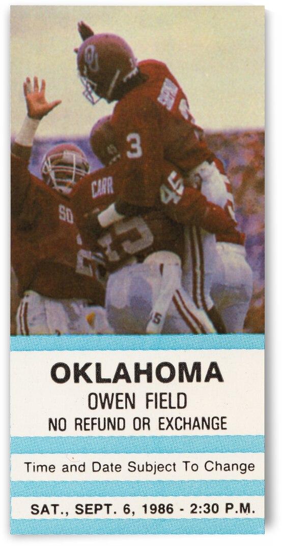 1986 Oklahoma Sooners vs. UCLA Bruins by Row One Brand
