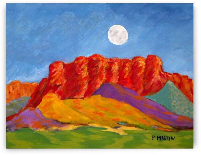 Moon over Red Bluff by PollyMastin
