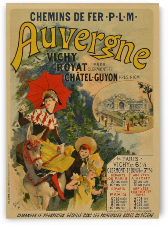 Auvergne Original French Poster by VINTAGE POSTER