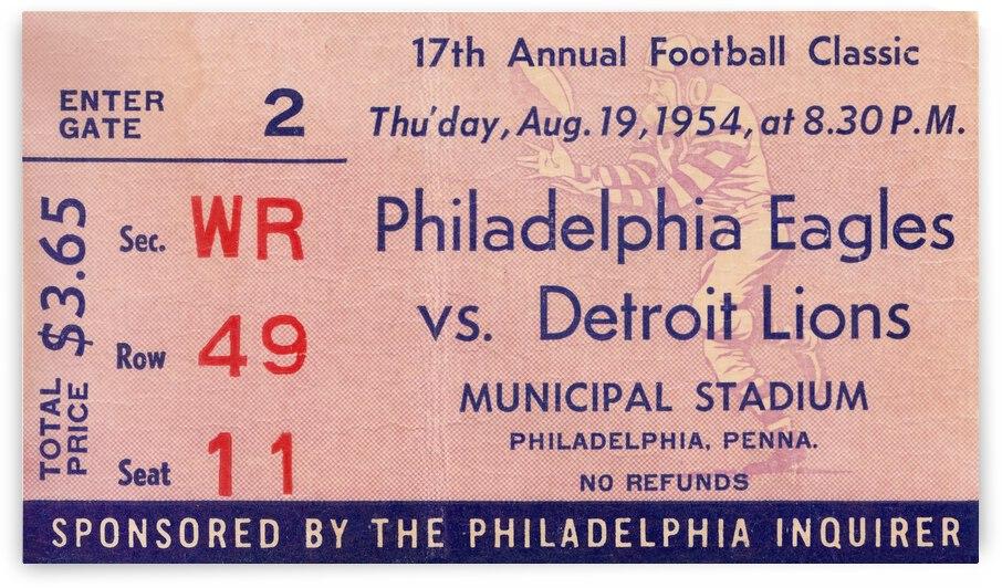 1954 Detroit Lions vs. Philadelphia Eagles by Row One Brand