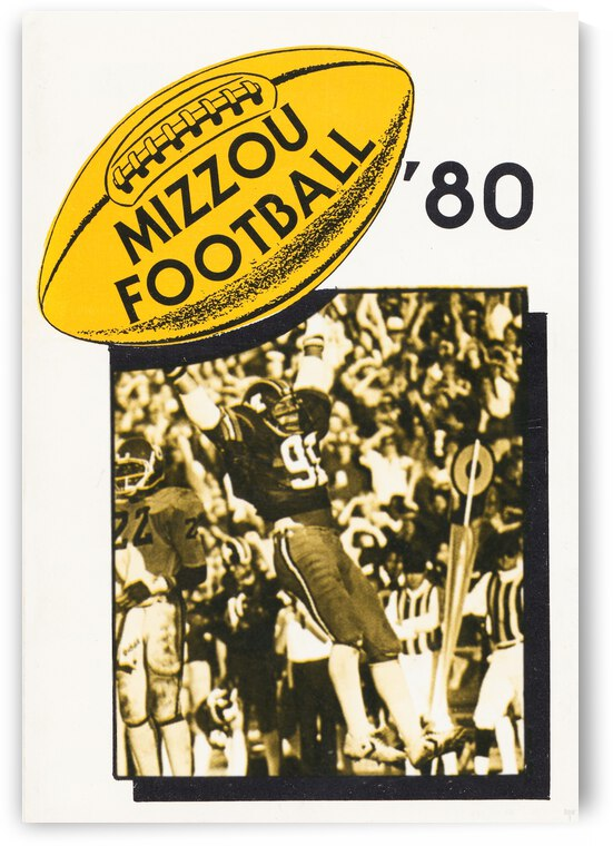 1980 Missouri Football Poster by Row One Brand