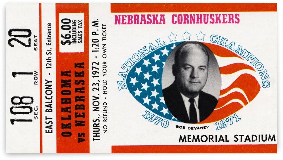 1972 Nebraska vs. Oklahoma by Row One Brand