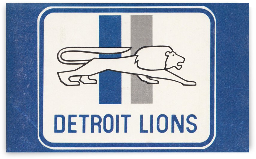 1974 Detroit Lions Football Art by Row One Brand