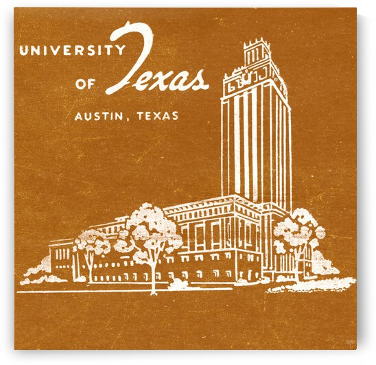 Vintage Sixties University of Texas Art by Row One Brand