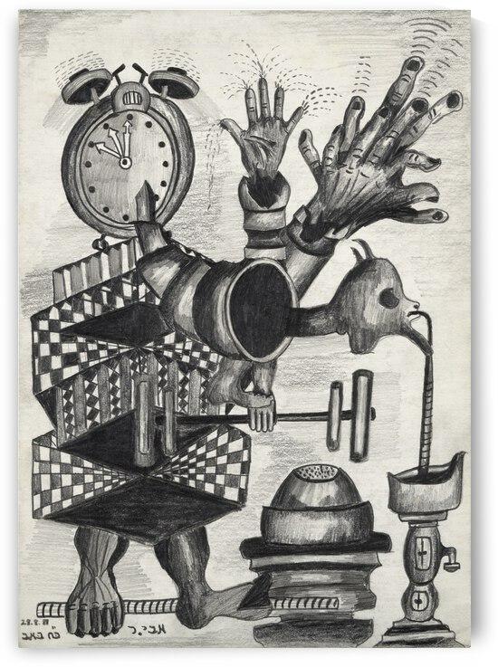 RA 017 - מכונת זמן - Time Machine by Avi Romano Art
