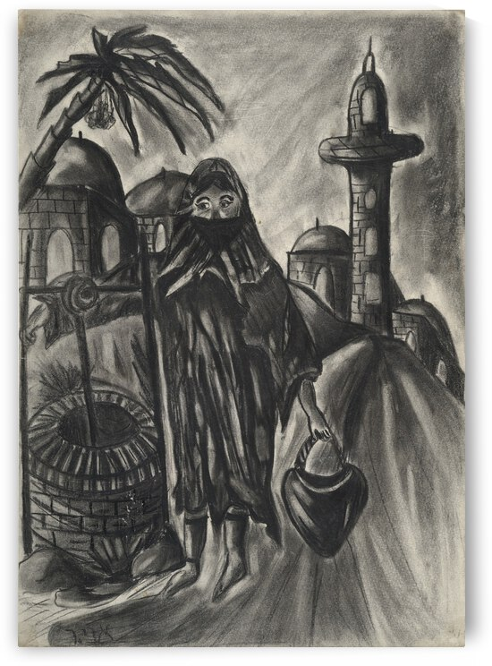 RA 014 - אישה מוסלמית - Muslim woman by Avi Romano Art