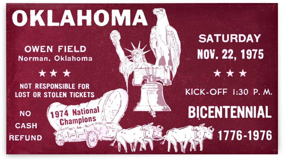 1975 Oklahoma Sooners Football Ticket Remix by Row One Brand