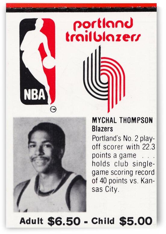 1981 Portland Trailblazers Ticket Stub Art by Row One Brand