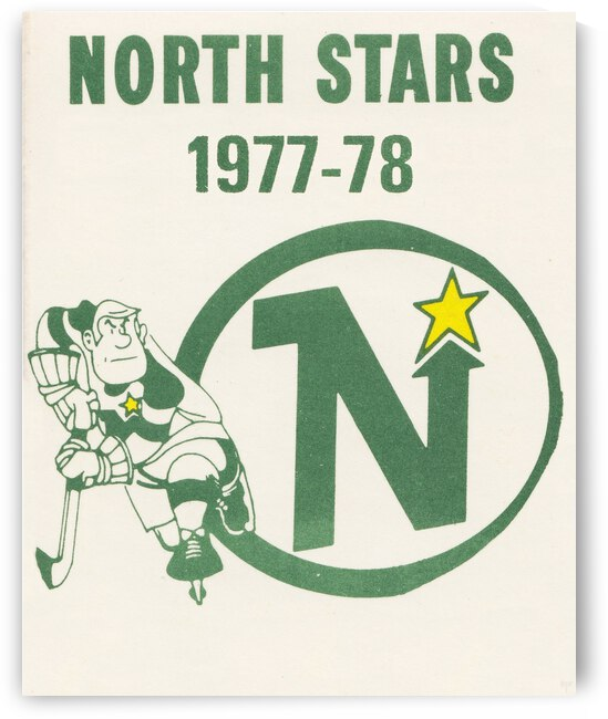 1977 Minnesota North Stars Poster by Row One Brand