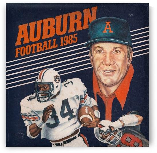 1985 Auburn Football Bo Jackson and Pat Dye Art by Row One Brand