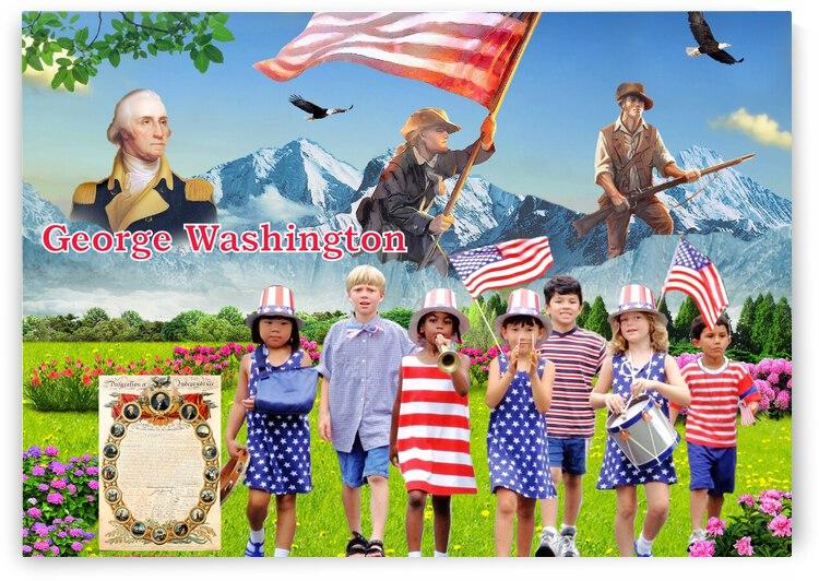 Washingtons Birthday Presidents Day by Radiy Bohem
