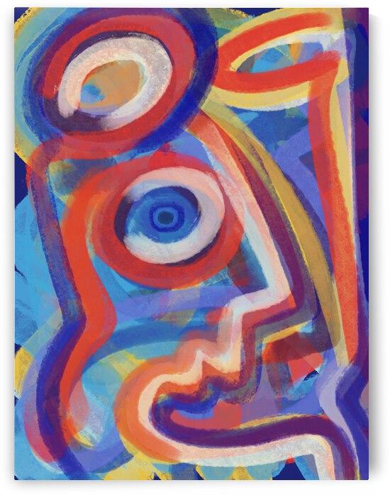 Abstract Pastel Futurist Portait  by Signorino