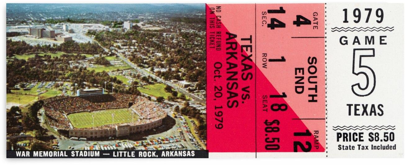 1979 Arkansas Razorbacks vs. Texas Longhorns by Row One Brand