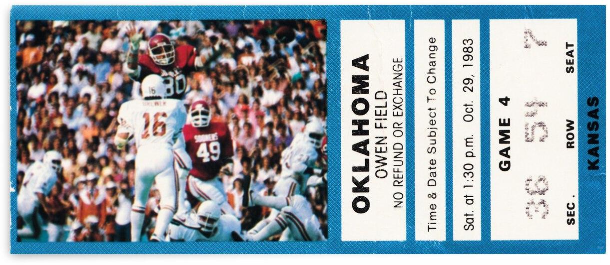 1983 Oklahoma Sooners vs. Kansas Jayhawks by Row One Brand