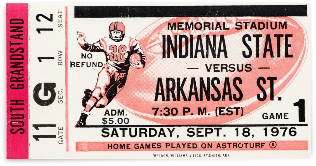 1976 Indiana State vs. Arkansas State by Row One Brand