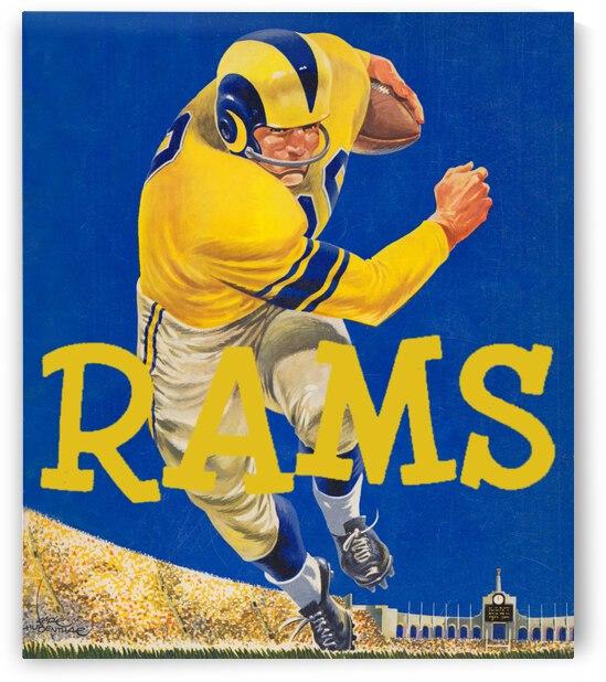 Vintage Los Angeles Rams Karl Hubenthal Art by Row One Brand