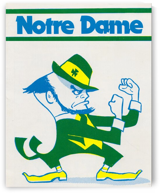 1978 Notre Dame Art by Row One Brand