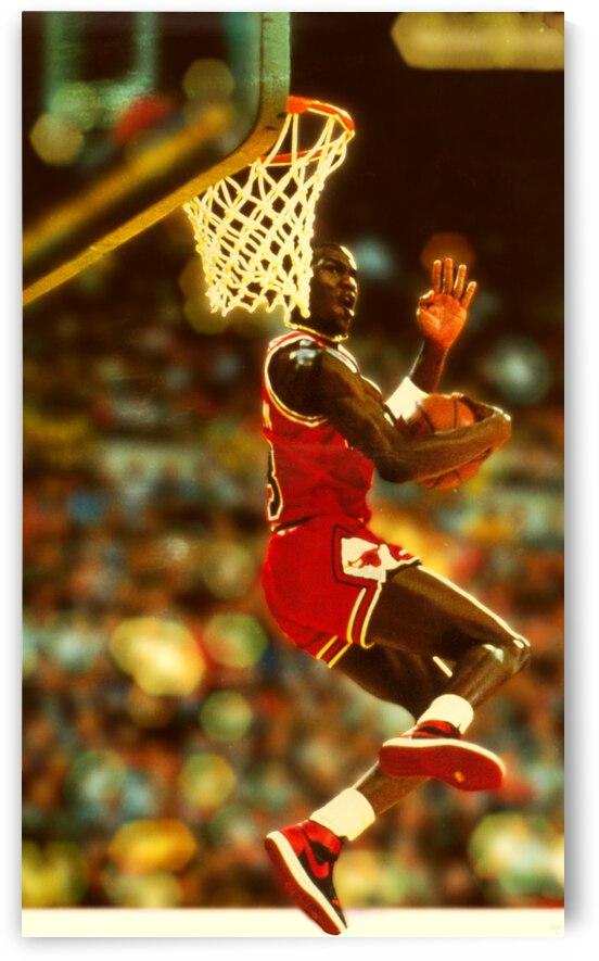 1985 Michael Jordan Dunk Contest Art by Row One Brand