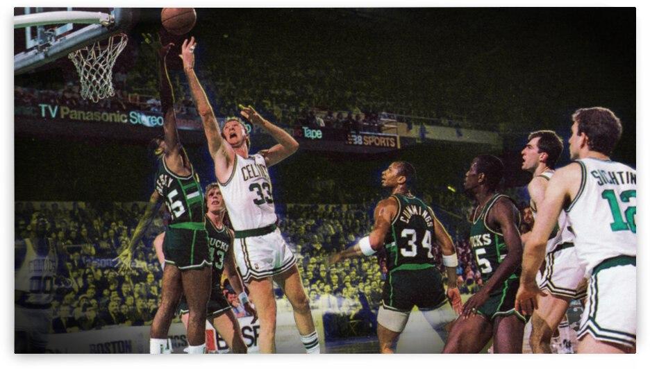 1986 Boston Celtics vs. Milwaukee Bucks by Row One Brand