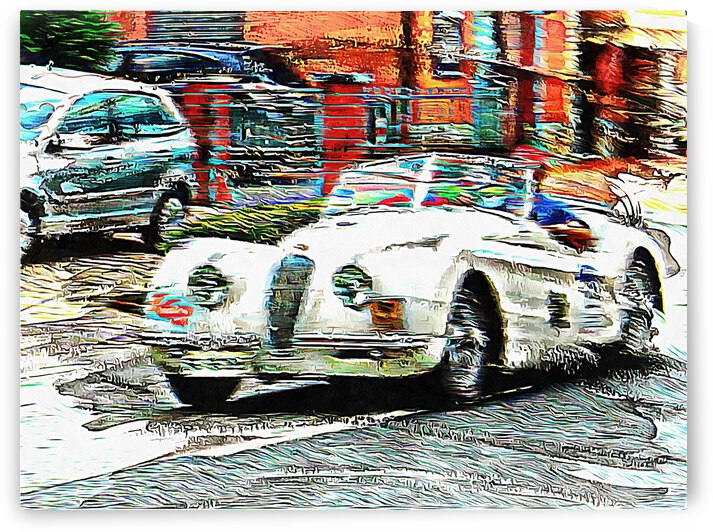 All White Classic Car by Dorothy Berry-Lound