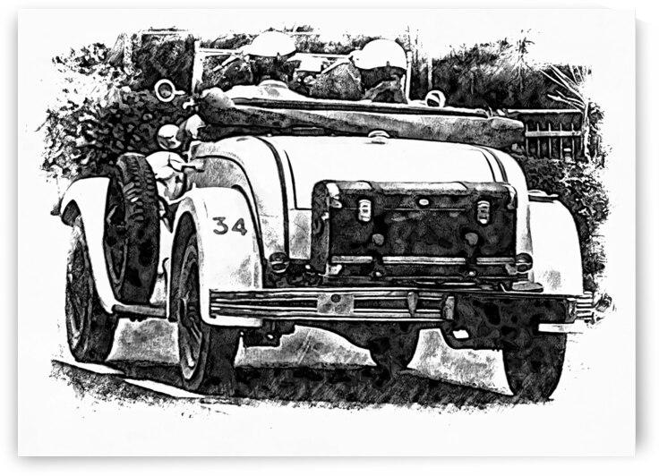 Classic Car Rear View by Dorothy Berry-Lound