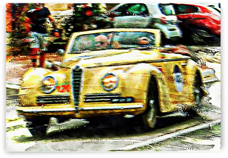 Golden Classic Car by Dorothy Berry-Lound