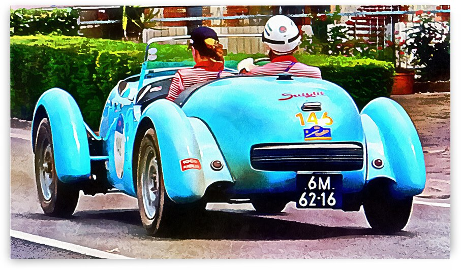 Turquoise Classic Car by Dorothy Berry-Lound