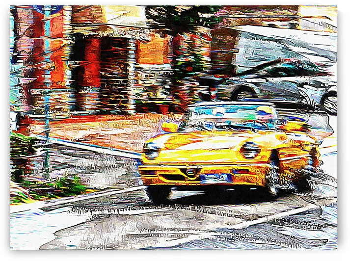 Yellow Classic Car by Dorothy Berry-Lound