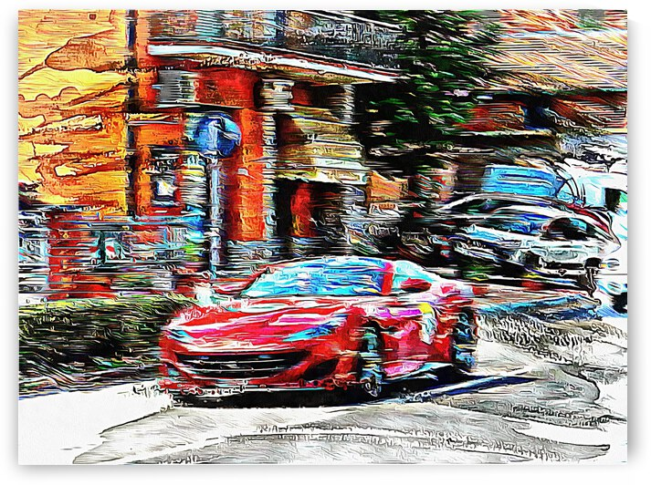 The Red Sports Car  by Dorothy Berry-Lound
