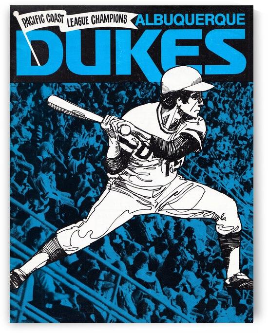 1973 Albuquerque Dukes Baseball  Poster by Row One Brand
