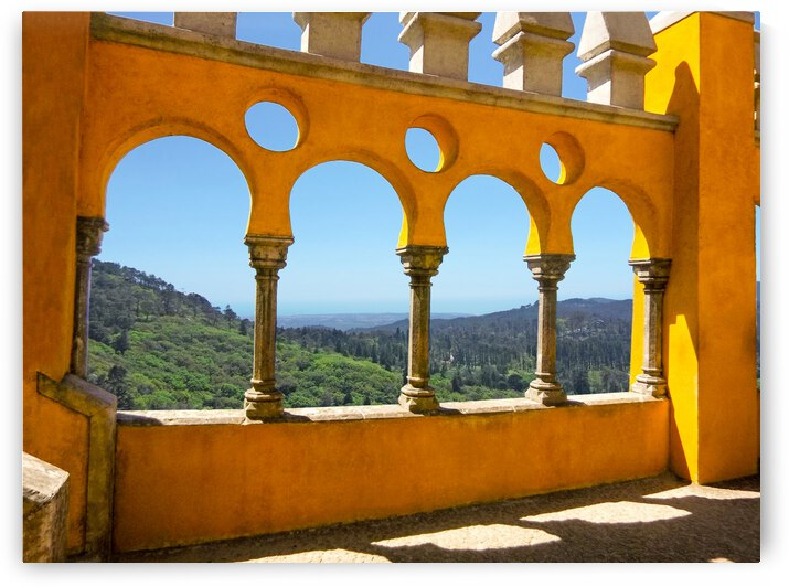 Shadows and Sunlight - Palace of Pena - Sintra Portugal by 1North